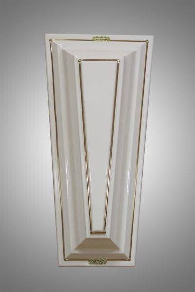Гроб шестигранник белый  №3