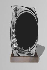 Памятник «Фигура крест/свеча/розы»