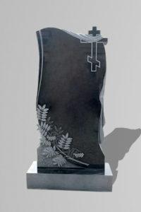 Памятник «Крест/драпировка/ветка рябины»